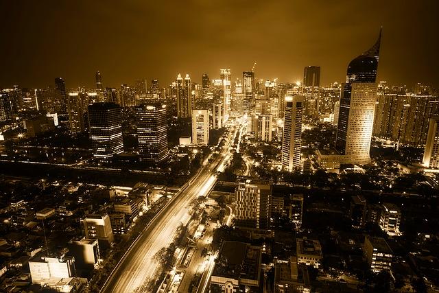 インドネシアの首都、ジャカルタ